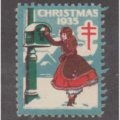 USED 1935 CHRISTMAS SEAL (SCOTT #WX76)