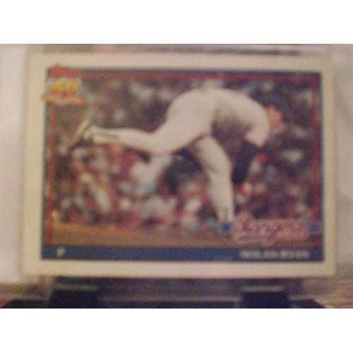 BASEBALL CARD: 1991 TOPPS TIFFANY #1 NOLAN RYAN  NM BOX TO SLEEVE