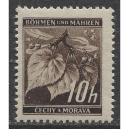 1939 BOHEMIA & MORAVIA  10 h.  WW II German occupation mint**, Scott # 21