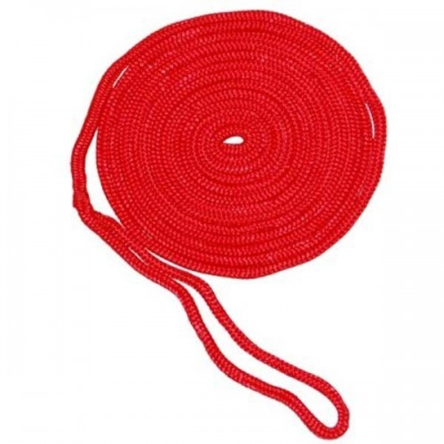 AMRA-27150Aamstrand Double Braid Nylon Colored Dock Line - Red - 1/2' X 20'
