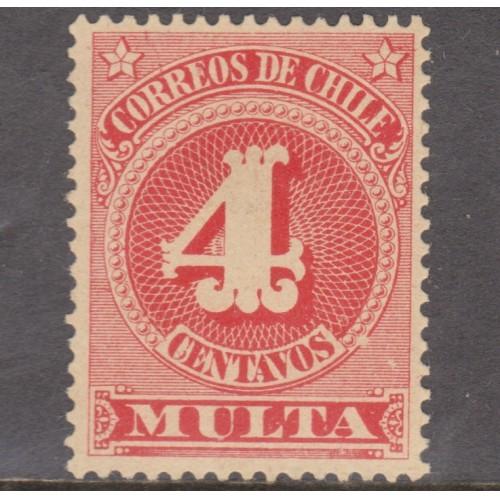 UNUSED CHILE #J45 (1898)