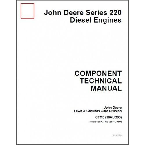 John Deere Series 220 Diesel Engines Service Manual CD - CTM3 3TN 4TN Yanmar