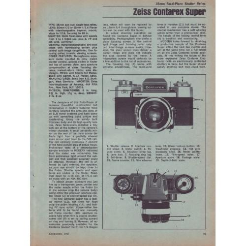 Zeiss - Contarex Super - 35mm Camera - Test Report 1967
