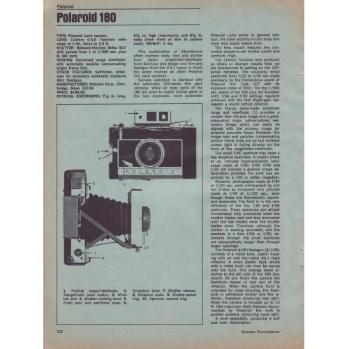 Polaroid - Model 180 - Camera - Test Report 1967