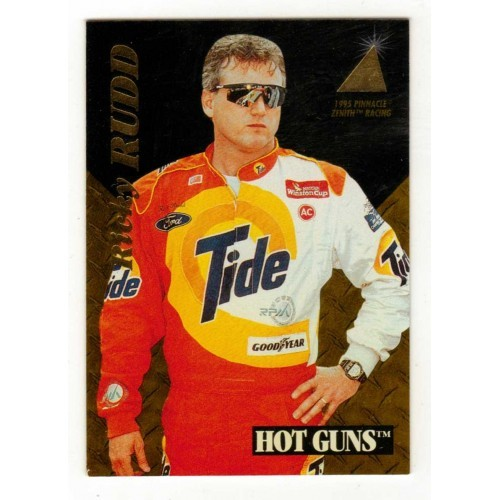 1995 Pinnacle Winston Cup Ricky Rudd Hot Gun Auto Racing Card No. 10 - VF+