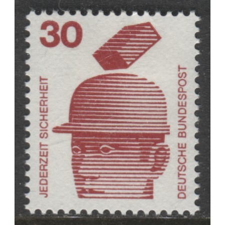 1972 GERMANY  30 Pf. Accident Prevention issue mint*, Scott # 1078