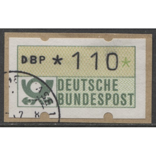 1992 GERMANY  110 Pf.  ATM  stamp  used, Michel # 2