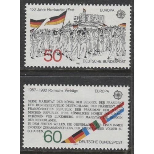 1982 GERMANY complete EUROPA set mint**, Scott # 1372-1373