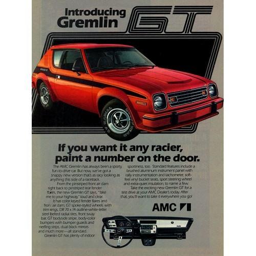 AMC Gremlin GT Magazine Ad - 1978