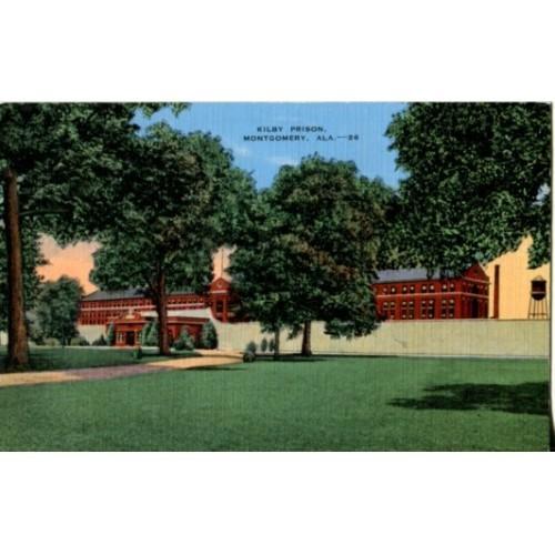 Linen Postcard. Kilby Prison, Montgomery, Ala.