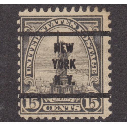 USED SCOTT #696 WITH NEW YORK, N. Y. PRECANCEL (2)