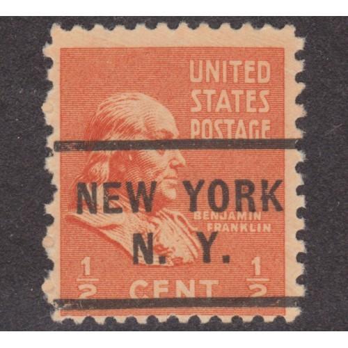 USED SCOTT #803 WITH NEW YORK, N. Y. PRECANCEL (3)