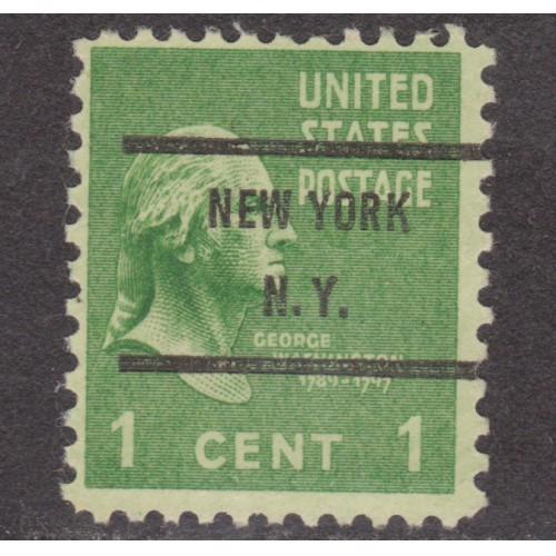 USED SCOTT #804 WITH NEW YORK, N. Y. PRECANCEL (2)