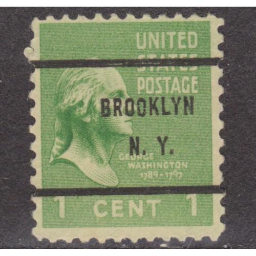 USED SCOTT #804 WITH BROOKLYN, N. Y. PRECANCEL