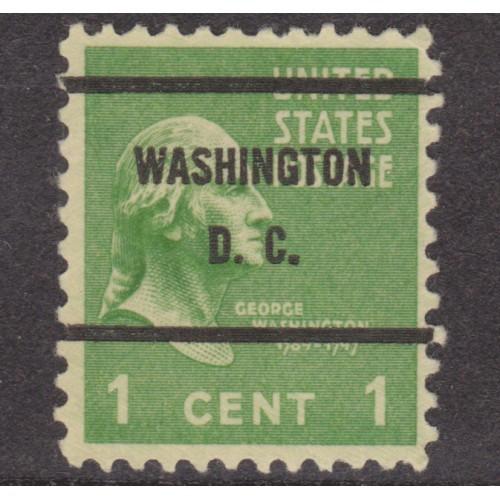USED SCOTT #804 WITH WASHINGTON, D. C. PRECANCEL
