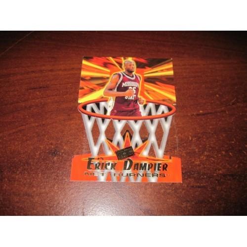 1996-1997 Press Pass NCAA Basketball Card Net Burner Erick Dampier Mississippi S