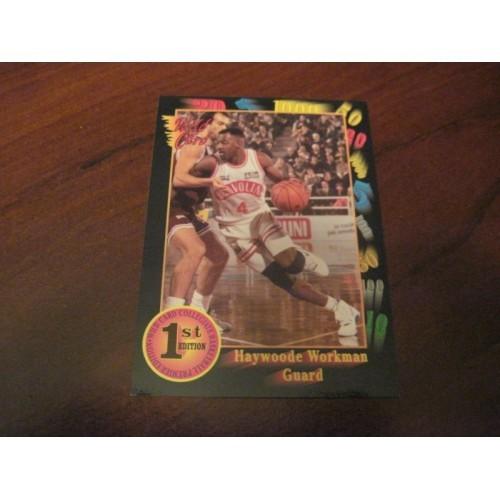 1991 1992 Wildcard NCAA Basketball Draft Card 78 Haywoode Workman Oral Roberts