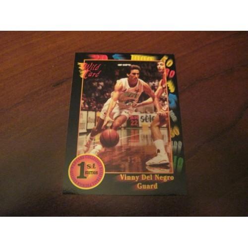 1991-92 Wildcard NCAA Basketball Draft 79 Vinny Del Negro North Carolina State
