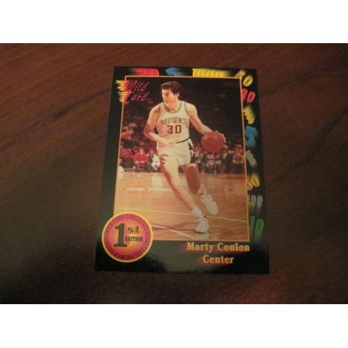 1991 1992 Wildcard NCAA Basketball Draft Card 92 Marty Conlon Providence