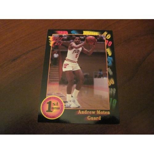 1991 1992 Wildcard NCAA Basketball Draft Card 107 Andrew Moten Florida