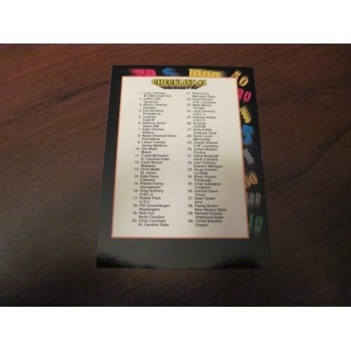 1991 1992 Wildcard NCAA Basketball Draft Card 118 Checklist 1