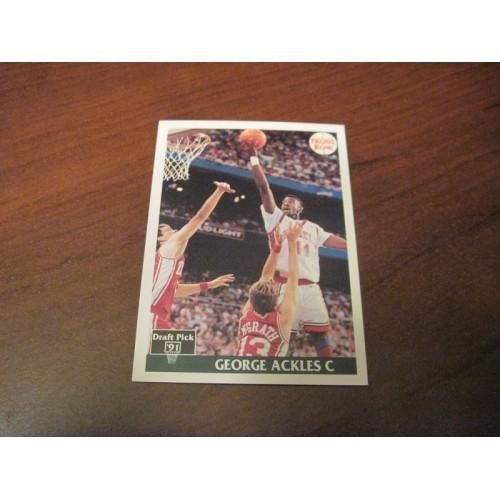 1991 1992 Front Row NCAA Draft Basketball Card 5 George Ackles UNLV
