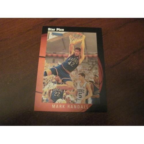 1991 Star Pix NCAA Basketball Draft Card 7 Mark Randall Kansas