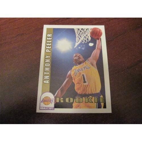 1992 1993 Skybox Rookie Basketball Card 410 Anthony Peeler Missouri Lakers RC
