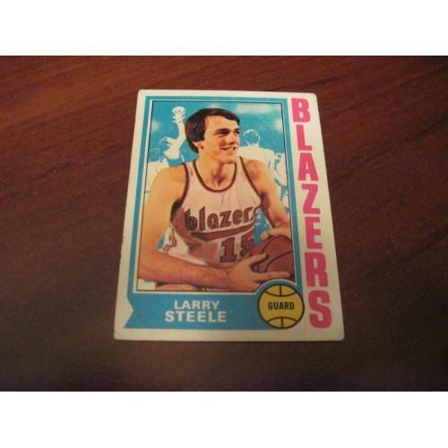 1973 1974 NBA Topps Basketball Card 21 Larry Steele Kentucky