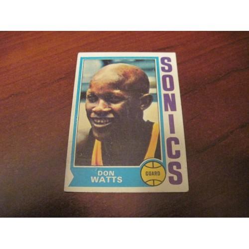 1973 1974 NBA Topps Basketball Card 142 Don Watts Xavier ROOKIE RC Seattle