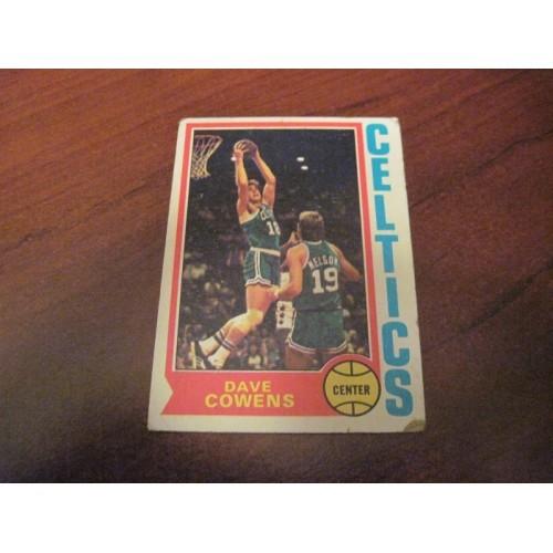 1973 1974 NBA Topps Basketball Card 155 Dave Cowens Florida State Boston Celtics