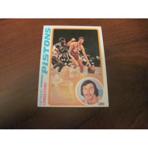 1978 1979 Topps Basketball Card 15 Chris Ford Villanova