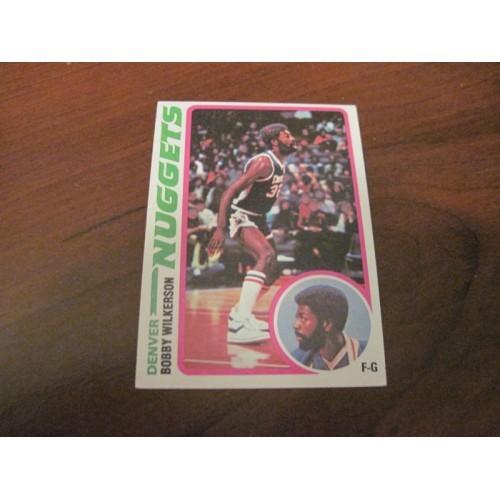 1978 1979 Topps Basketball Card 41 Bobby Wilkerson Indiana Denver Seattle