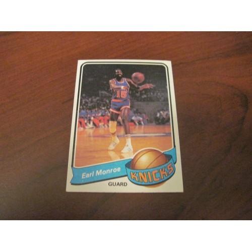 1979 1980 Topps Basketball Card 8 Earl Monroe Winston Salem New York Knicks