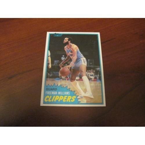 1981 1982 Basketball Card 95 Freeman Williams Portland State Hi Grade Centered