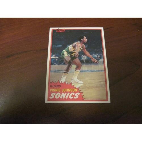 1981 1982 Basketball Card 99 Vinnie Johnson Baylor NM & Centered