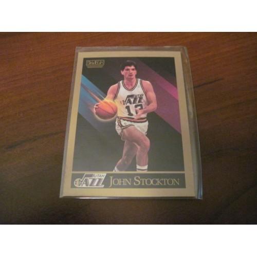 1990 1991 Skybox NBA Basketball Card 284 John Stockton Gonzaga Hi Grade
