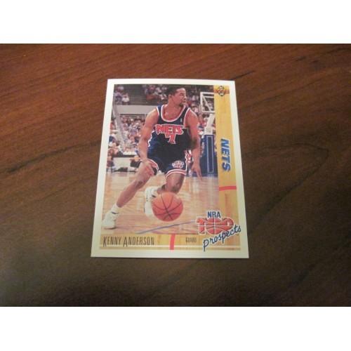 1991 1992 Upper Deck NBA Basketball 444 Kenny Anderson St Saint Thomas ROOKIE