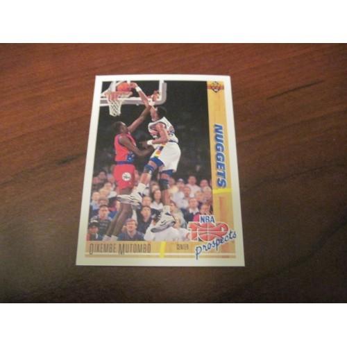1991 1992 Upper Deck NBA Basketball 446 Dikembe Mutombo Georgetown ROOKIE RC