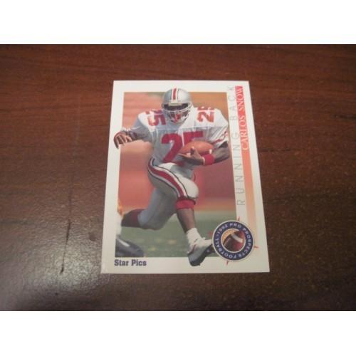 1992 Star Pix NFL Football College Draft Card 93 Carlos Snow Ohio State