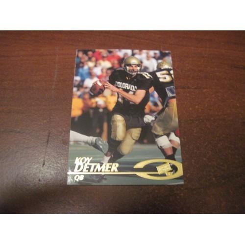 1997 Press Pass NFL Football College Draft Card 19 Koy Detmer Colorado