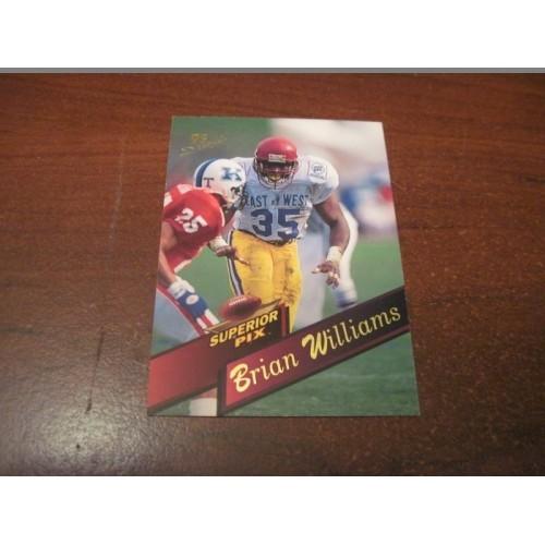 1995 Superior Pix NFL Football College Draft Card 8 Brian Williams USC Green Bay