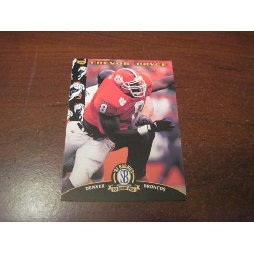 1997 Classic NFL Football College Draft Card 3 Trevor Pryce Clemson