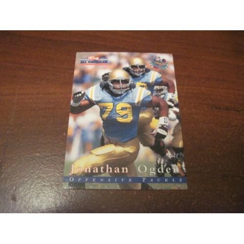 1996 Classic NFL Football College Draft Card 68 Jonathan Ogden UCLA Hall of Fame