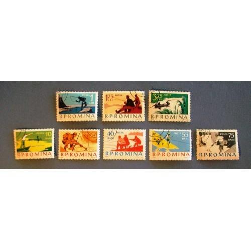 "1962  Romania  ""Various Fishing Scenes""  Stamps"
