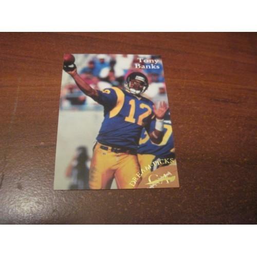 1997 Dream Picks NFL Football College Draft Card R20 Tony Banks Michigan State