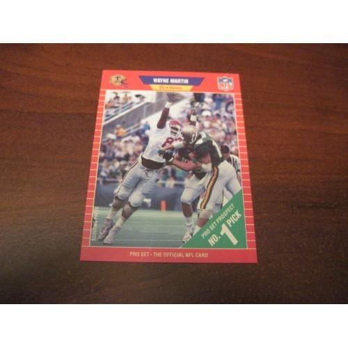 1989 Pro Set NFL Football College Draft Card 504 Wayne Martin Arkansas
