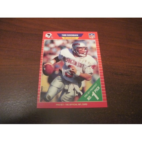 1989 Pro Set NFL Football College Draft Card Timm Rosenbach Washington State QB