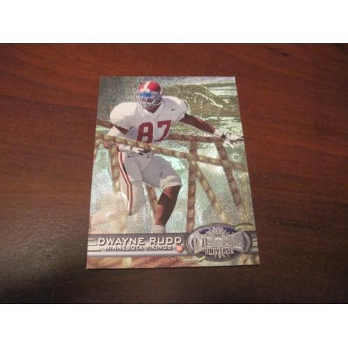 1997 Fleer Metal Universe NFL Football College Draft Card Dwayne Rudd Alabama