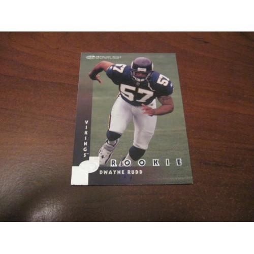 1996 Donruss NFL Football Card 222 Dwayne Rudd Alabama ROOKIE RC